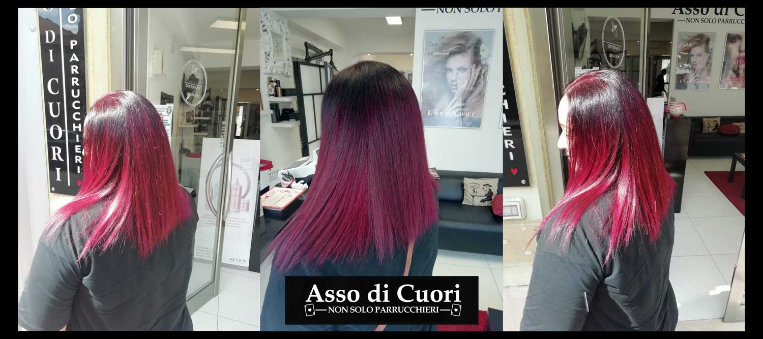 Base Burgundy con riflessi red/violet